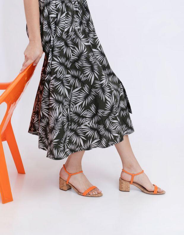 נעלי נשים - Schutz - סנדלי עקב CARMEN - כתום