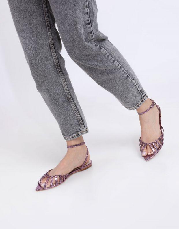 נעלי נשים - Schutz - סנדלים שטוחים ELIA - שחור מבריק