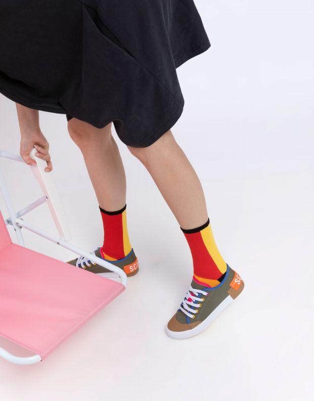 נעלי נשים - Schutz - סניקרס בד BINA - חאקי