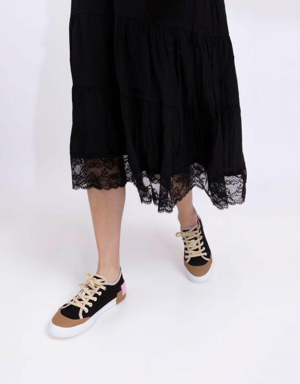 נעלי נשים - Schutz - סניקרס בד BINA - שחור