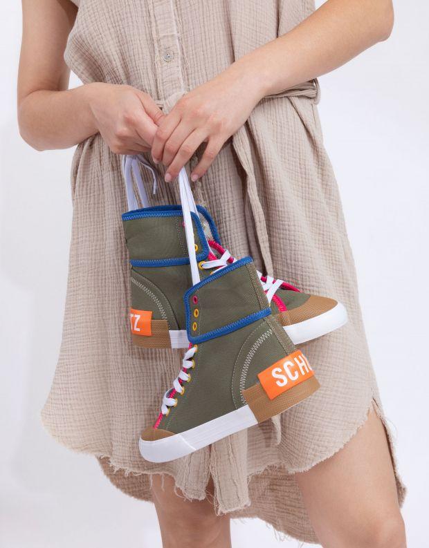 נעלי נשים - Schutz - סניקרס בד גבוהות RILEY - חאקי