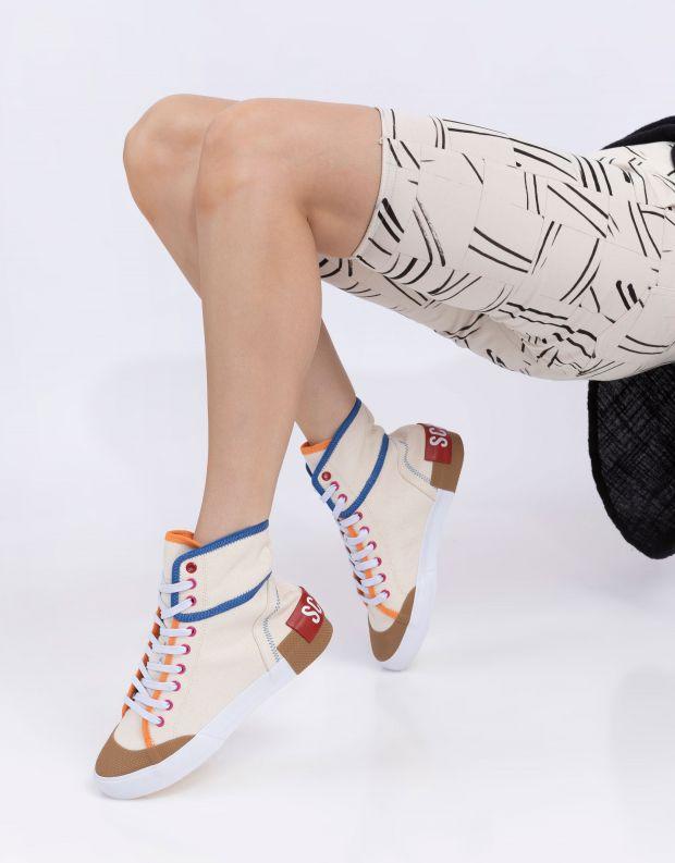 נעלי נשים - Schutz - סניקרס בד גבוהות RILEY - לבן