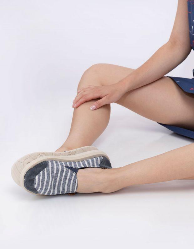 נעלי נשים - Satorisan - נעלי KUNG FU פסים - כחול   לבן