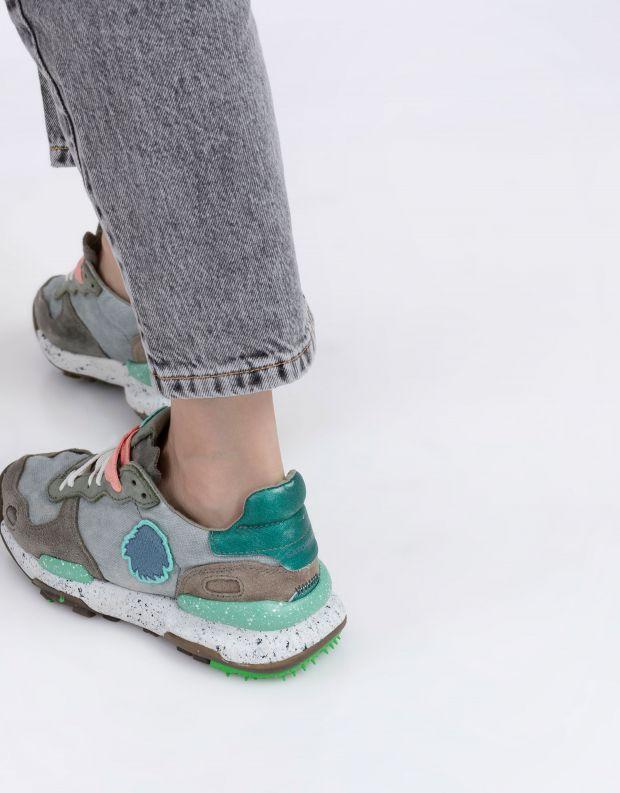 נעלי נשים - Satorisan - סניקרס בד CHACRONA - חאקי