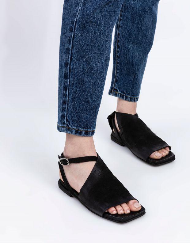 נעלי נשים - A.S. 98 - סנדלים שטוחים TAKE - שחור