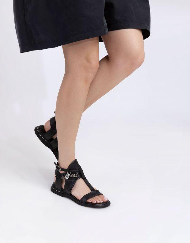 נעלי נשים - A.S. 98 - סנדלים עם חרוזים MARE - שחור