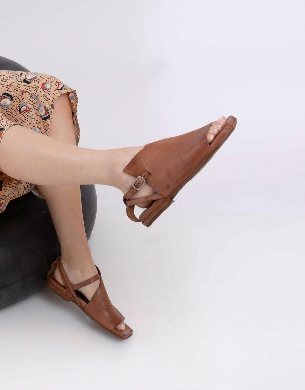 נעלי נשים - A.S. 98 - סנדלים שטוחים TAKE - חום