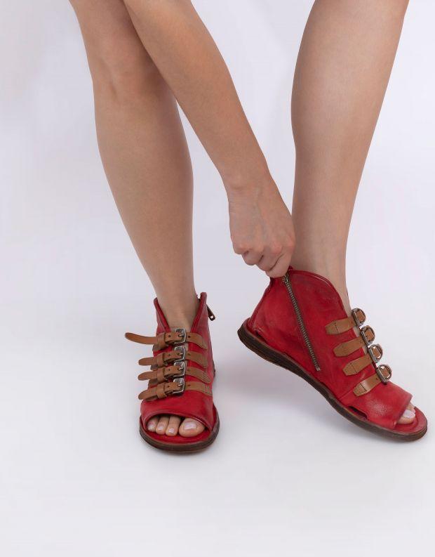 נעלי נשים - A.S. 98 - סנדלים סגורים RAMOS - אדום