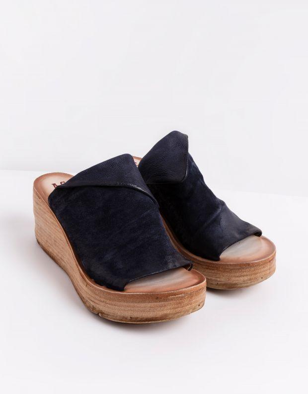 נעלי נשים - A.S. 98 - כפכפי פלטפורמה NOA - כחול