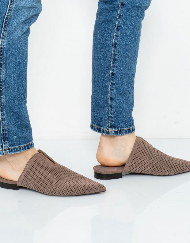 נעלי נשים - Jeffrey Campbell - כפכפי מיולז CLEOS - חום