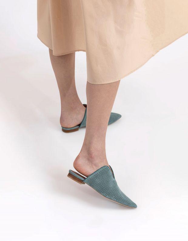 נעלי נשים - Jeffrey Campbell - כפכפי מיולז CLEOS - מנטה