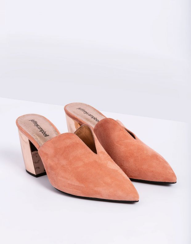 נעלי נשים - Jeffrey Campbell - כפכפי עקב COMPLETE - ורוד