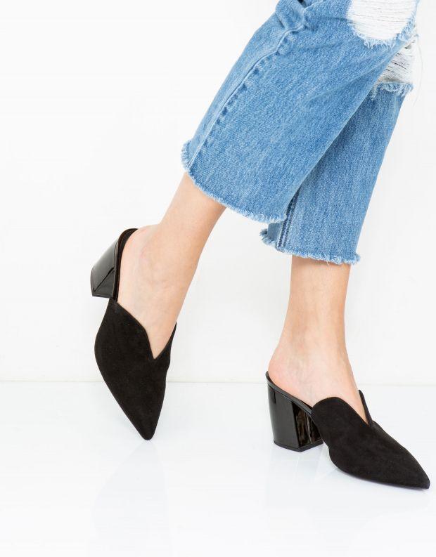 נעלי נשים - Jeffrey Campbell - כפכפי עקב COMPLETE - שחור