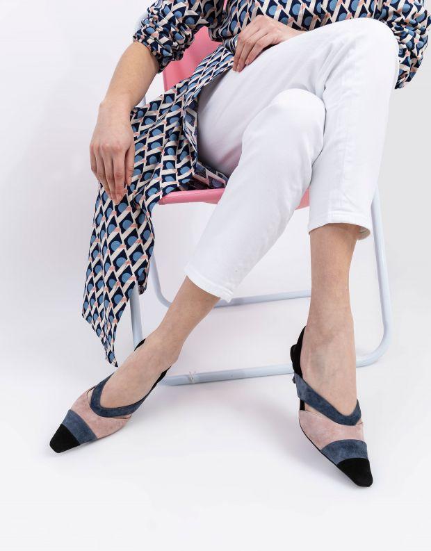 נעלי נשים - Jeffrey Campbell - סנדלי זמש רצועות EIGHT - אפור