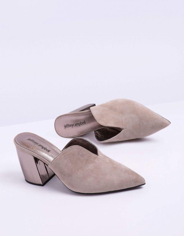 נעלי נשים - Jeffrey Campbell - כפכפי עקב COMPLETE - אפור