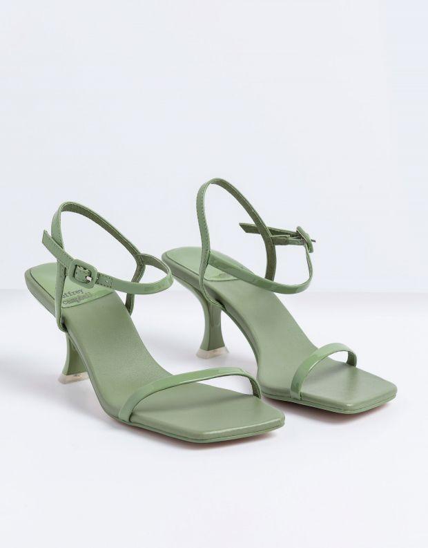 נעלי נשים - Jeffrey Campbell - סנדלי עקב עם רצועה JERROD - מנטה
