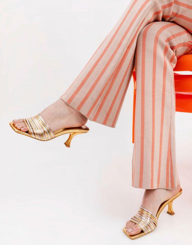 נעלי נשים - Jeffrey Campbell - כפכפי עקב מטאליים MR BIG2 - זהב