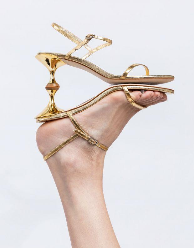 נעלי נשים - Jeffrey Campbell - סנדלי עקב TWILIGHT - זהב