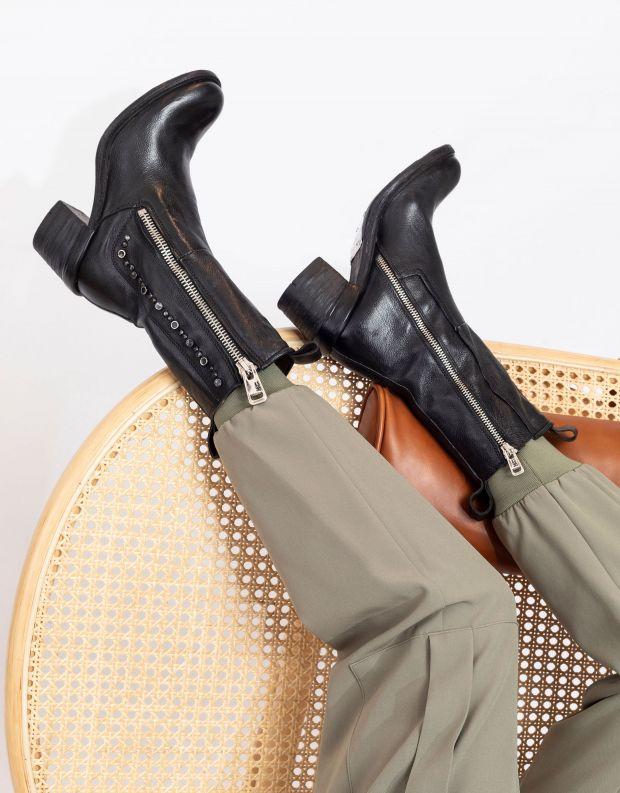 נעלי נשים - A.S. 98 - מגפיים JAMAL רוכסן וניטים - שחור