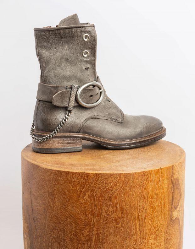 נעלי נשים - A.S. 98 - מגפונים עם אבזם FLOWER - אפור