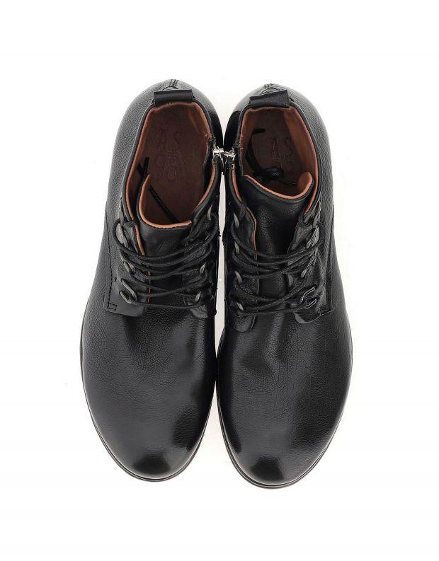 נעלי גברים - A.S. 98 - נעליים CLASH לולאות מתכת - שחור