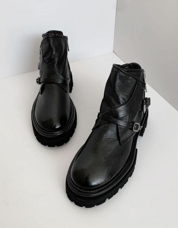 נעלי נשים - A.S. 98 - מגפונים עם אבזמים HEAVEN - שחור