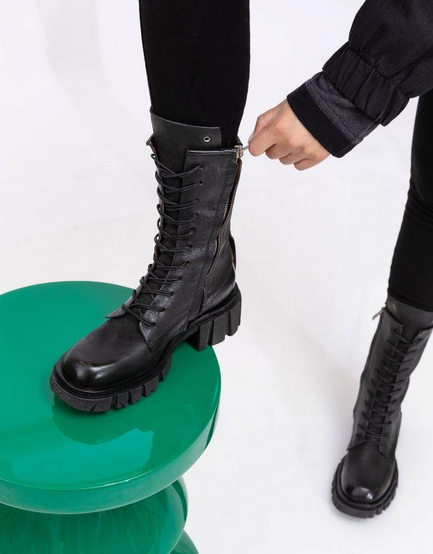נעלי נשים - A.S. 98 - מגפיים עם שרוכים HELL - שחור