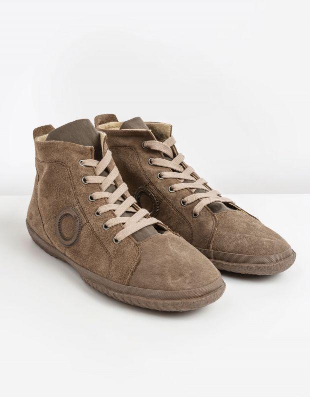 נעלי גברים - Aro - סניקרס זמש גבוהות WILLY - חום
