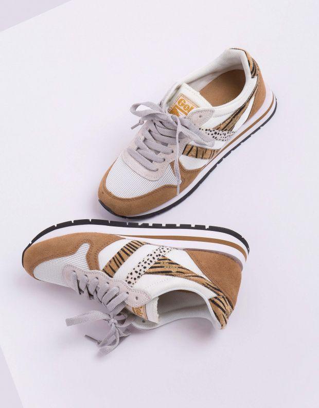 נעלי נשים - Gola - סניקרס DAYTONA SAFARI - לבן   חום