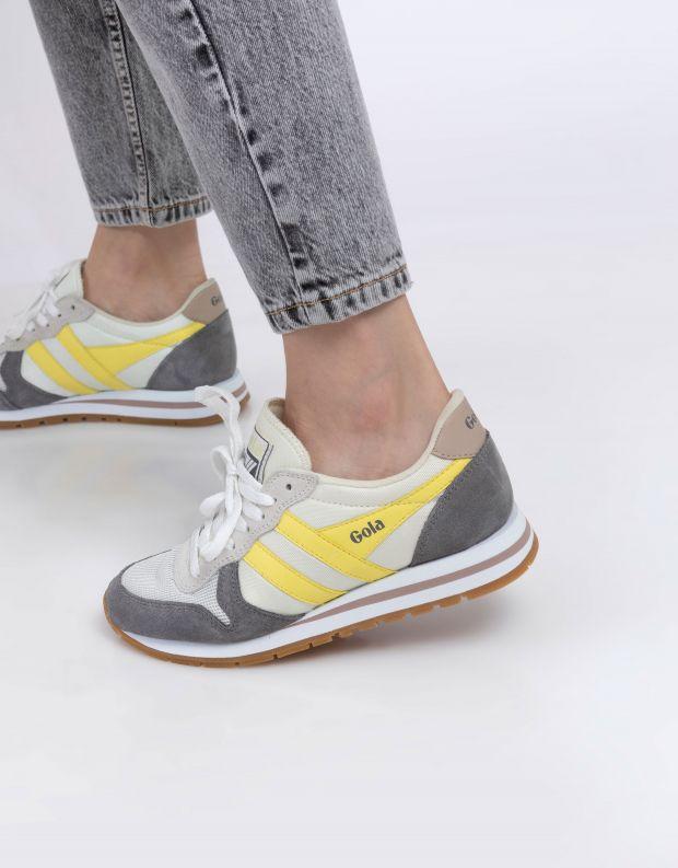 נעלי נשים - Gola - סניקרס DAYTONA - לבן   צהוב