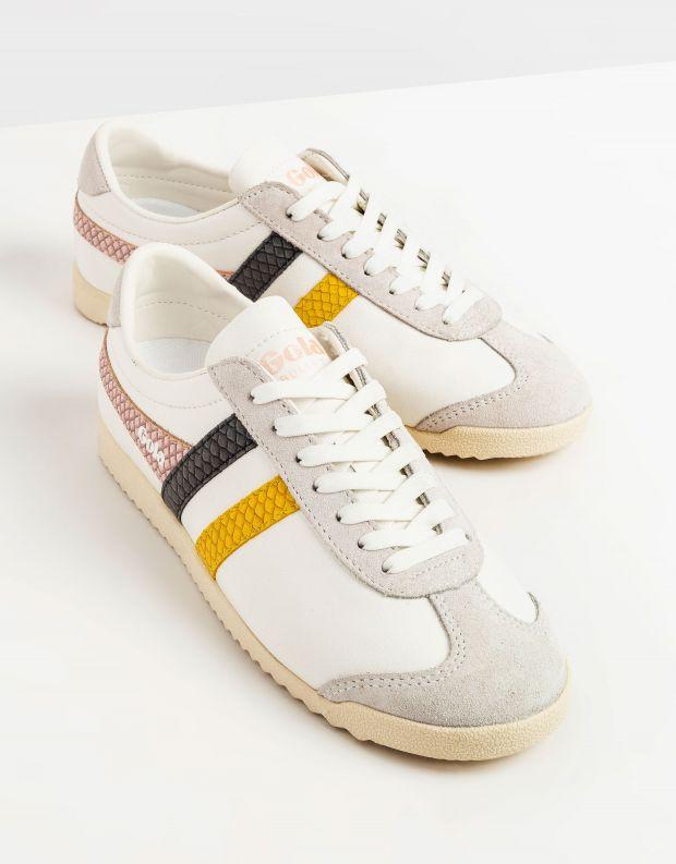 נעלי נשים - Gola - סניקרס BULLET TRIDENT נחש - לבן