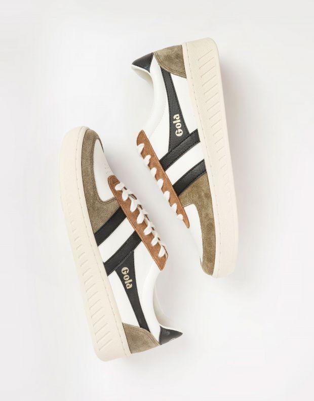נעלי גברים - Gola - סניקרס GRANDSLAM QUADRANT - חאקי   לבן