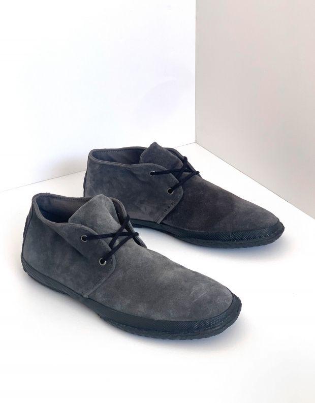 נעלי גברים - Aro - נעלי זמש WILLY - אפור כהה