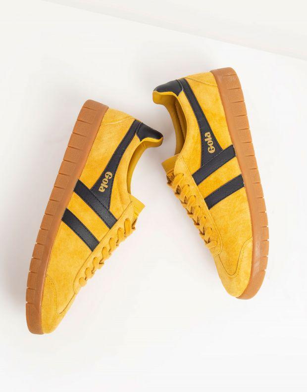 נעלי גברים - Gola - סניקרס HURRICANE SUEDE - צהוב   שחור