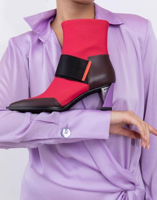 נעלי נשים - United Nude - מגפוני עקב ZINC RUN - אדום