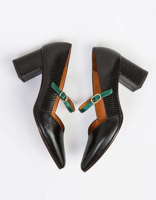 נעלי נשים - Chie Mihara - נעלי סירה עם עקב QUENQUI - שחור