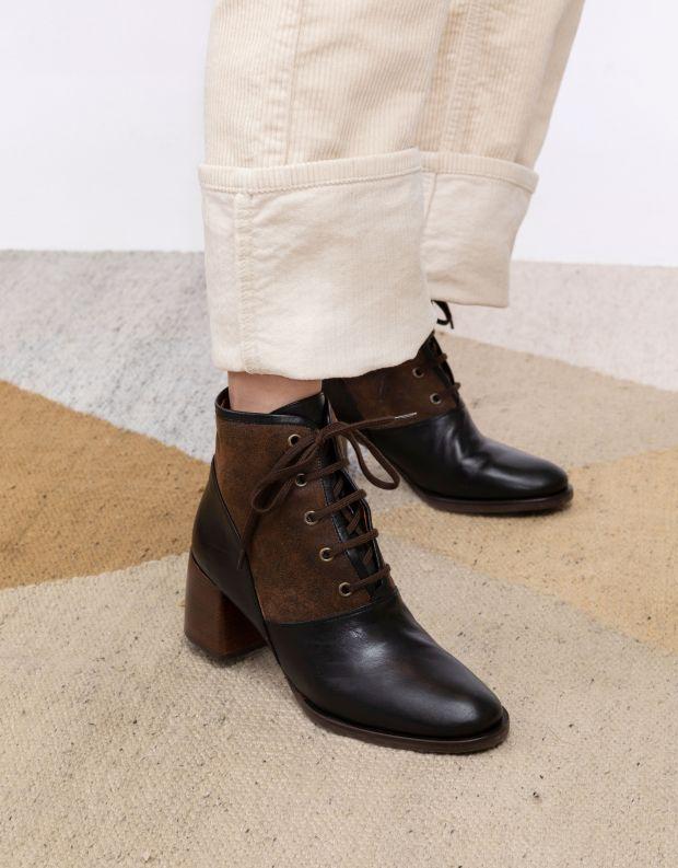 נעלי נשים - Chie Mihara - מגפונים עם שרוכים OKELA - שחור