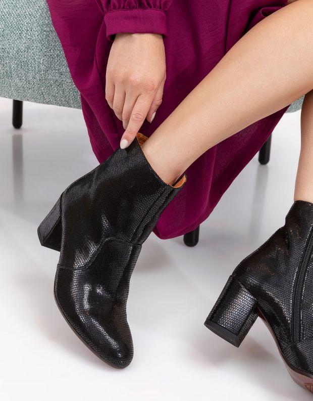 נעלי נשים - Chie Mihara - מגפוני עקב NU NERUNA - שחור