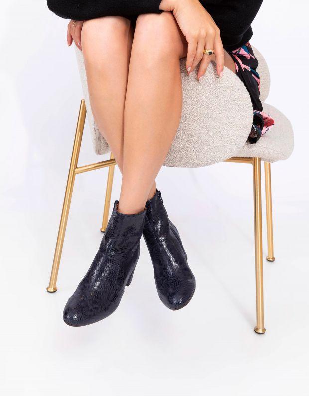נעלי נשים - Chie Mihara - מגפוני עקב NU NERUNA - כחול