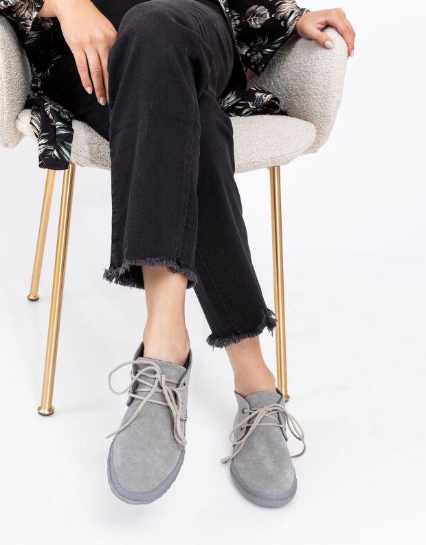 נעלי נשים - Aro - נעל WILLY B - אפור בהיר
