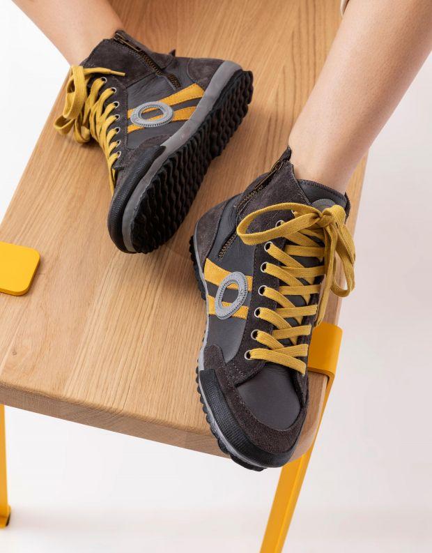 נעלי נשים - Aro - סניקרס גבוהות IDO B - אפור   כתום