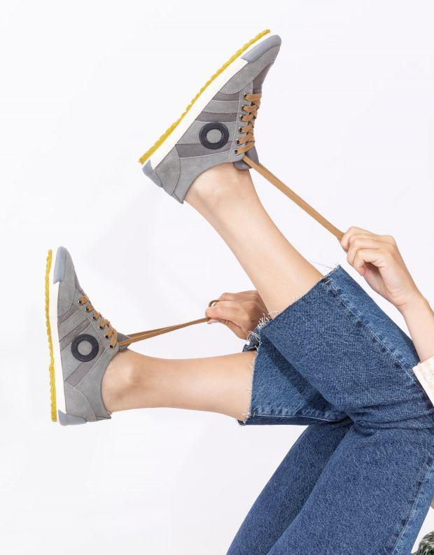 נעלי נשים - Aro - סניקרס IDO B - אפור   צהוב