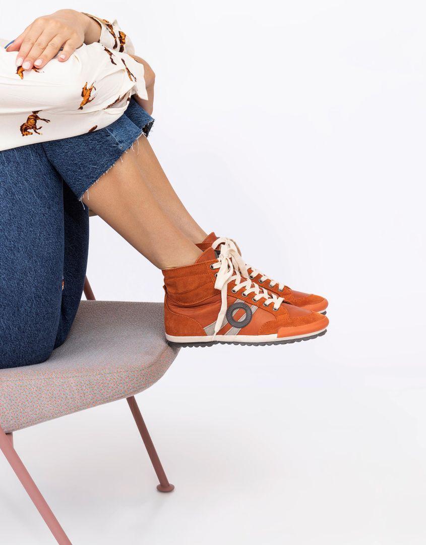 נעלי נשים - Aro - סניקרס גבוהות IDO B - כתום