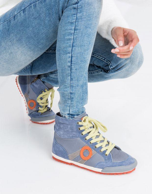 נעלי נשים - Aro - סניקרס גבוהות IDO B - תכלת