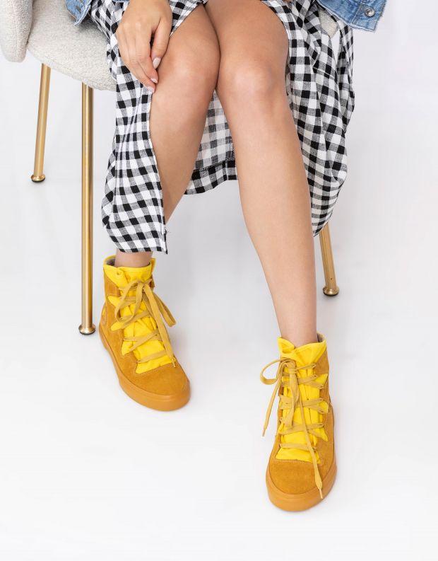 נעלי נשים - Aro - מגפוני EMMA קשירה - צהוב