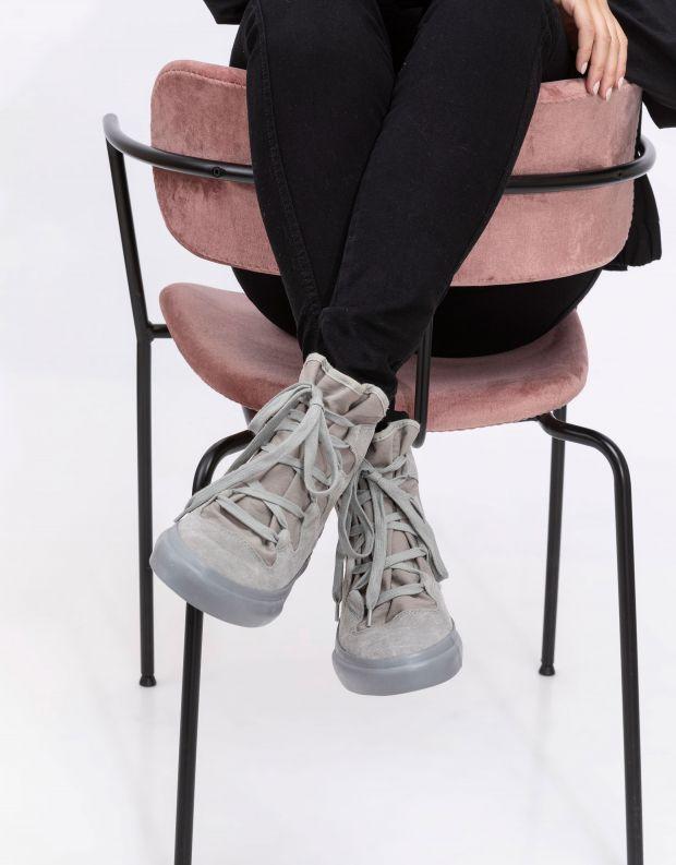 נעלי נשים - Aro - מגפוני EMMA קשירה - אפור