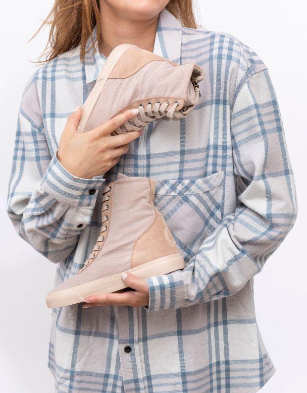 נעלי נשים - Aro - מגפוני ג'ינס מטאלי EMMA - ניוד