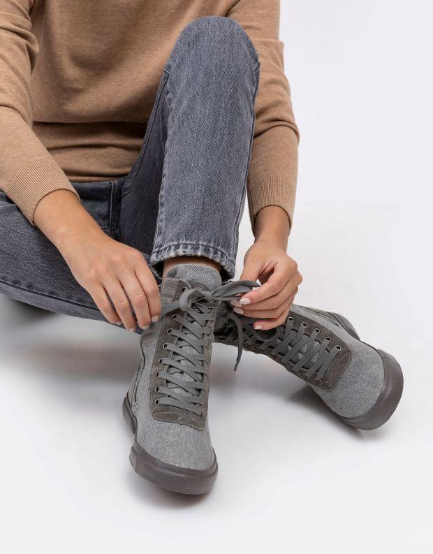 נעלי נשים - Aro - מגפוני ג'ינס מטאלי EMMA - אפור