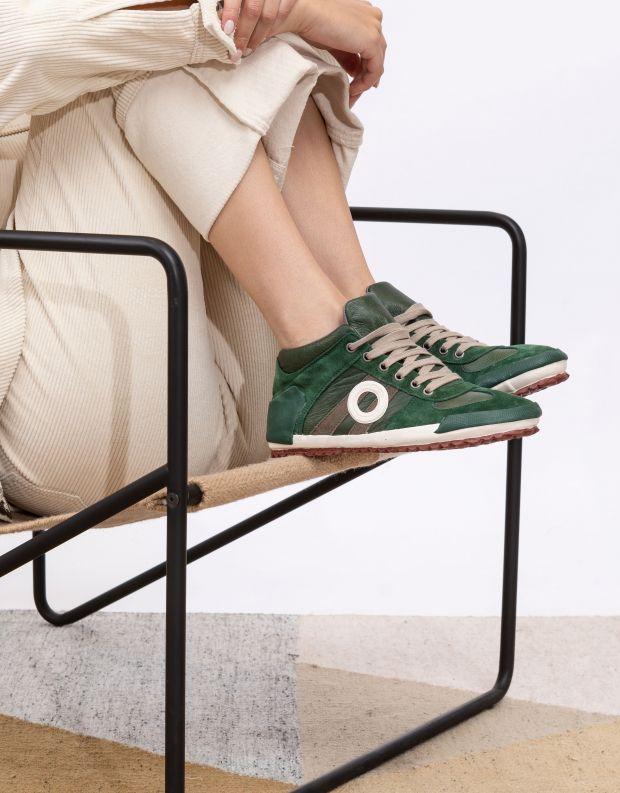 נעלי נשים - Aro - סניקרס גבוהות IDO - ירוק