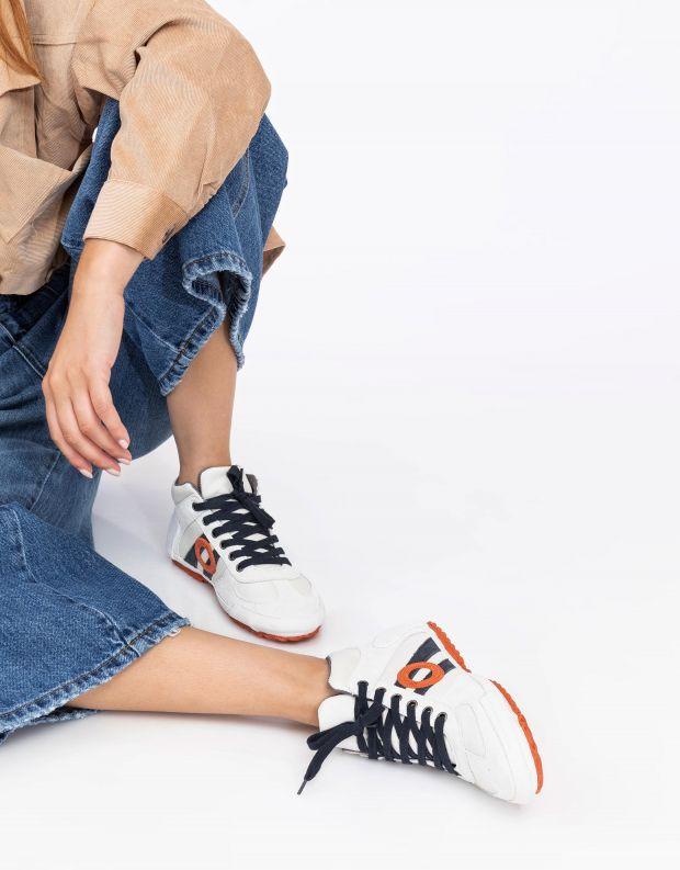 נעלי נשים - Aro - סניקרס גבוהות IDO - לבן   כחול
